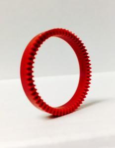 Round Red Gear