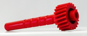 Injection Molded Long Red Gear